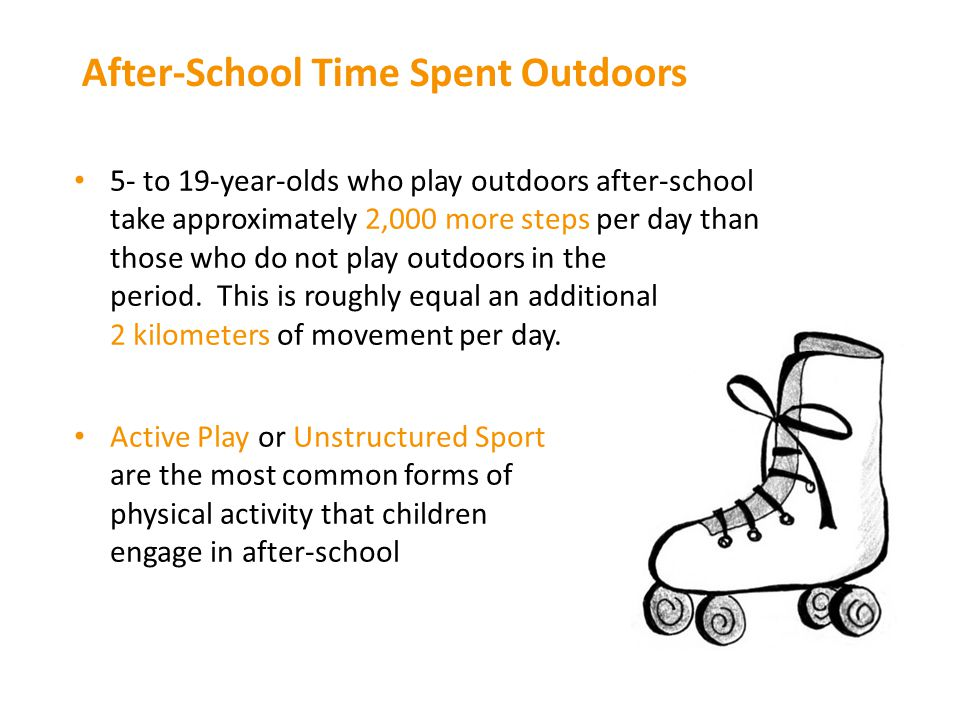 After-School Time Spent Outdoors