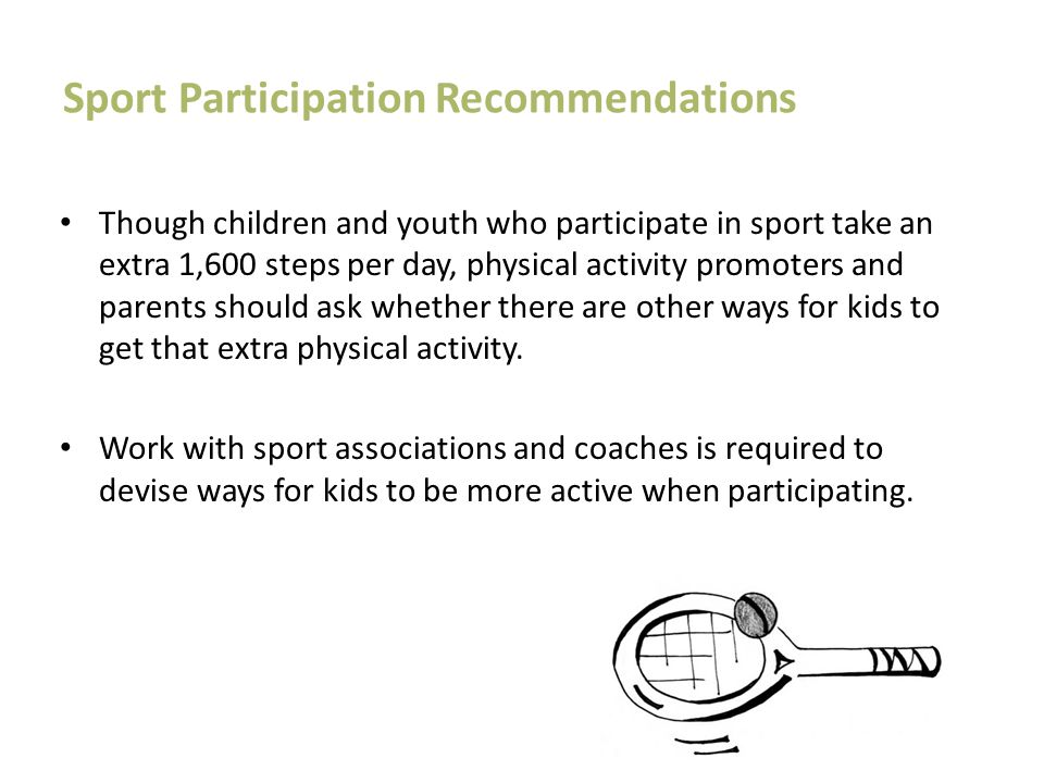 Sport Participation Recommendations