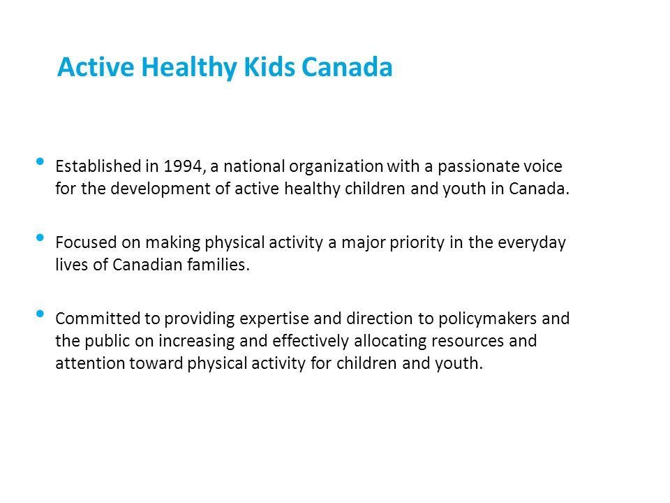 Active Healthy Kids Canada