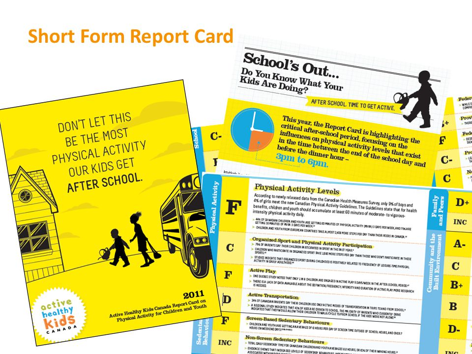 Short Form Report Card