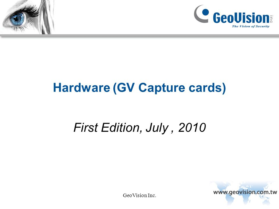 Hardware (GV Capture cards)