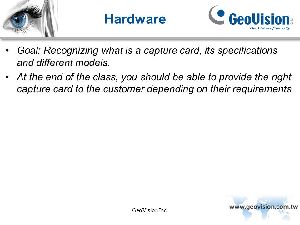 Hardware Goal: Recognizing what is a capture card, its specifications and different models.