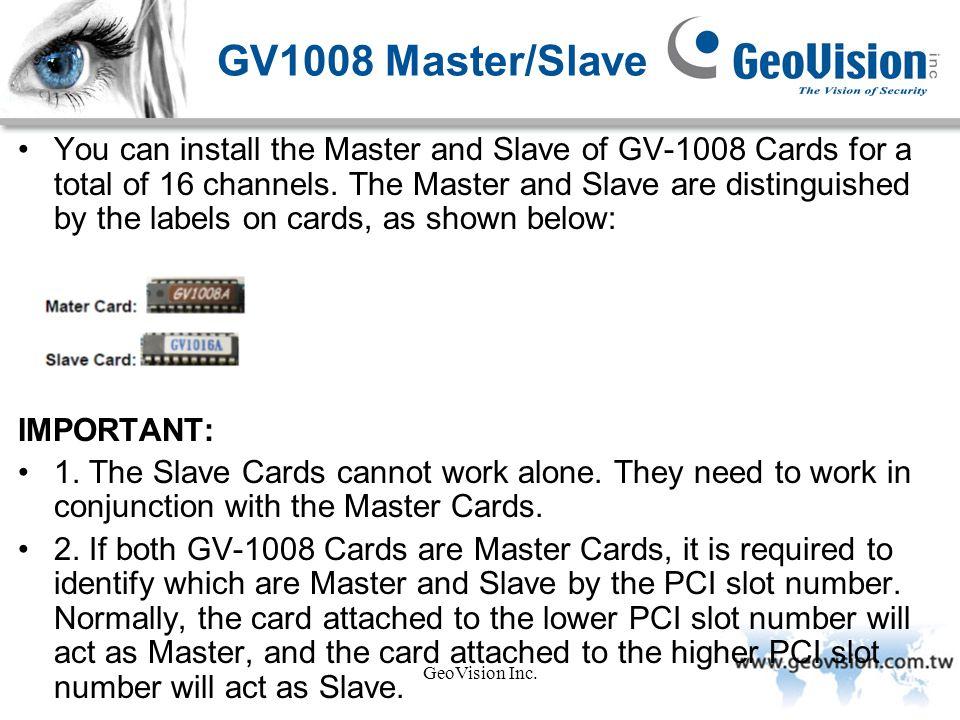 GV1008 Master/Slave