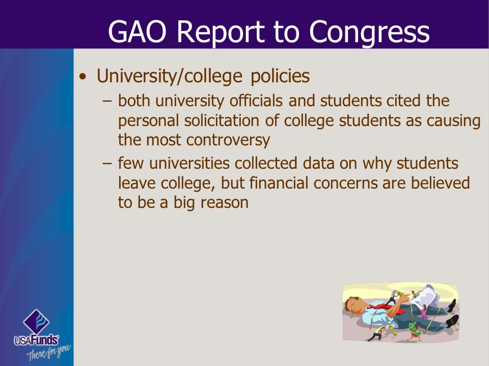 GAO Report to Congress University/college policies
