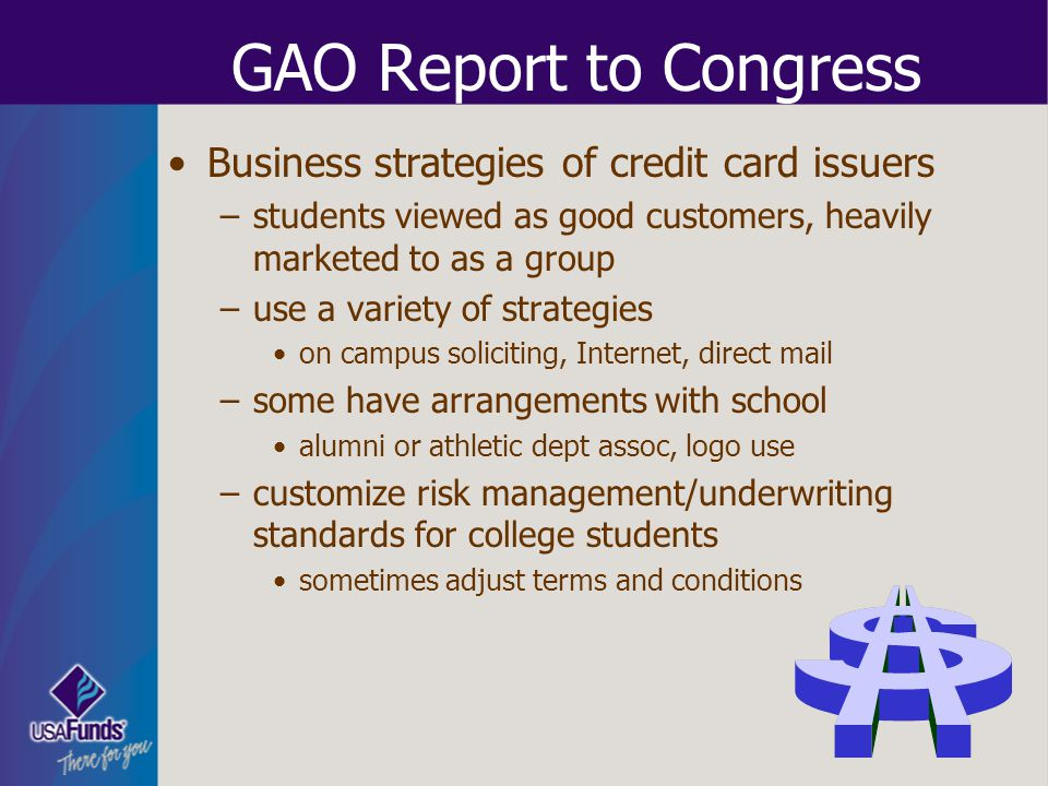 GAO Report to Congress Business strategies of credit card issuers