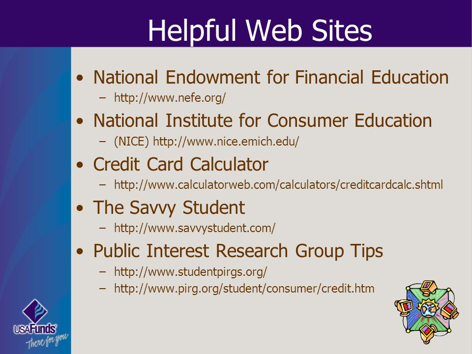 Helpful Web Sites National Endowment for Financial Education