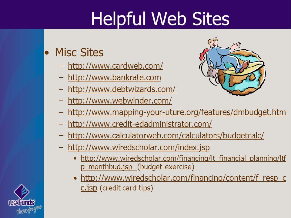 Helpful Web Sites Misc Sites http://www.cardweb.com/