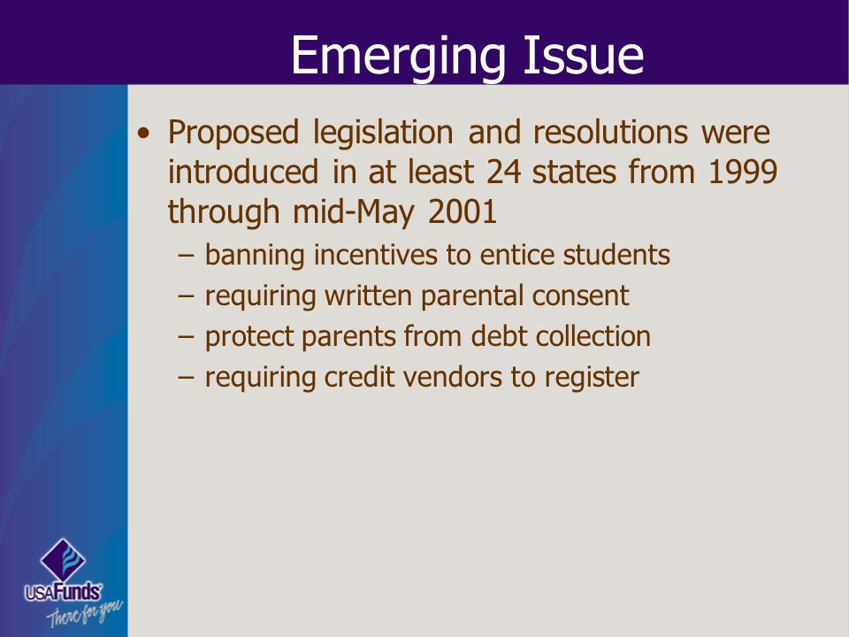 Emerging Issue Proposed legislation and resolutions were introduced in at least 24 states from 1999 through mid-May 2001.
