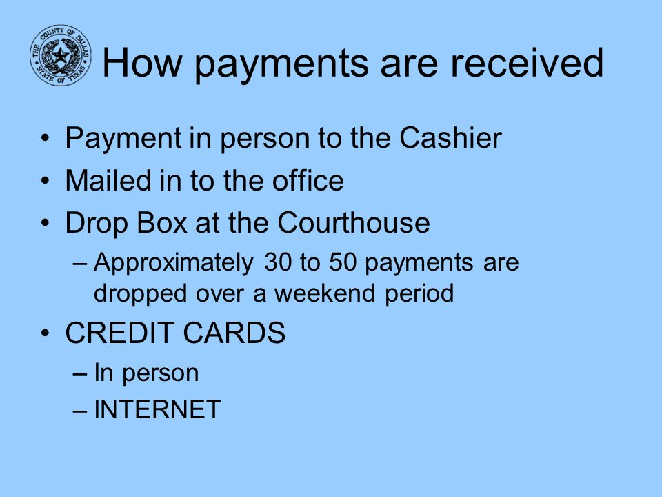 How payments are received