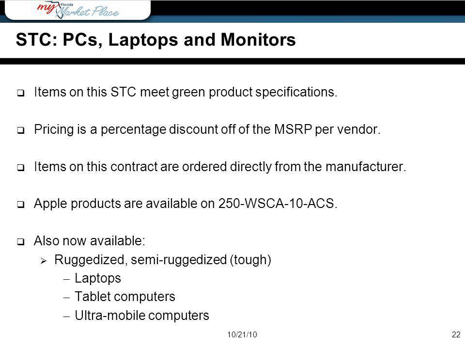 STC: PCs, Laptops and Monitors