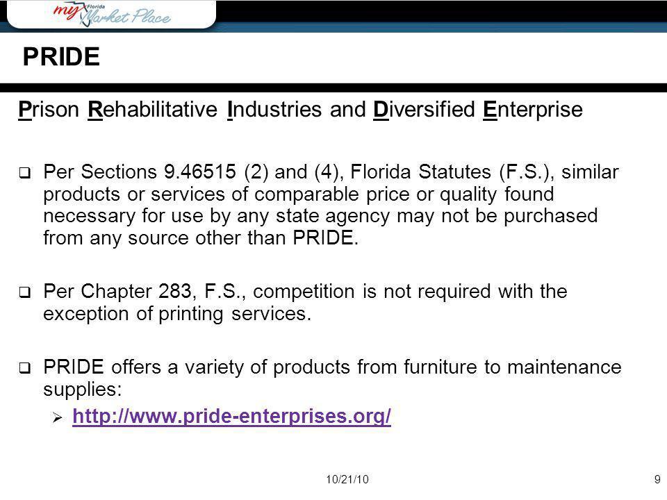PRIDE Prison Rehabilitative Industries and Diversified Enterprise