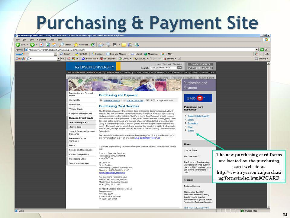 Purchasing & Payment Site