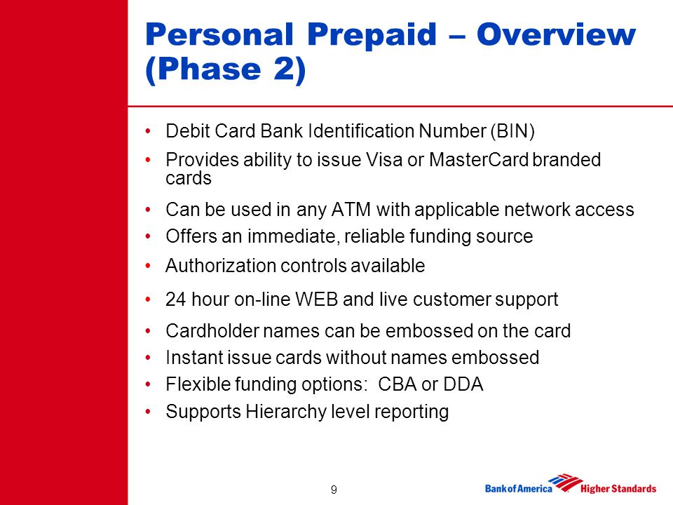 Personal Prepaid – Overview (Phase 2)