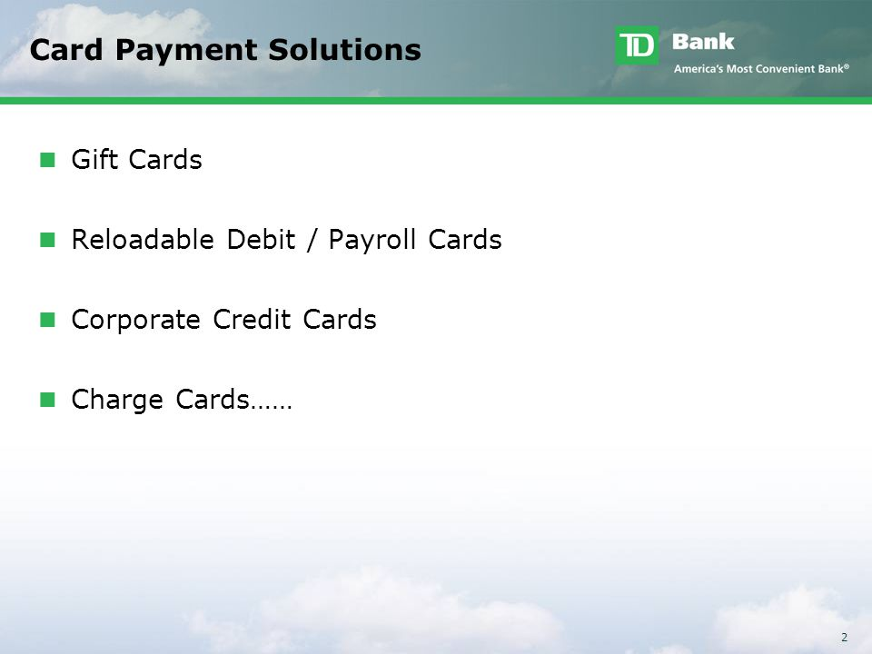 The Sustained Expansion of Commercial Card Based Payments - ppt ...