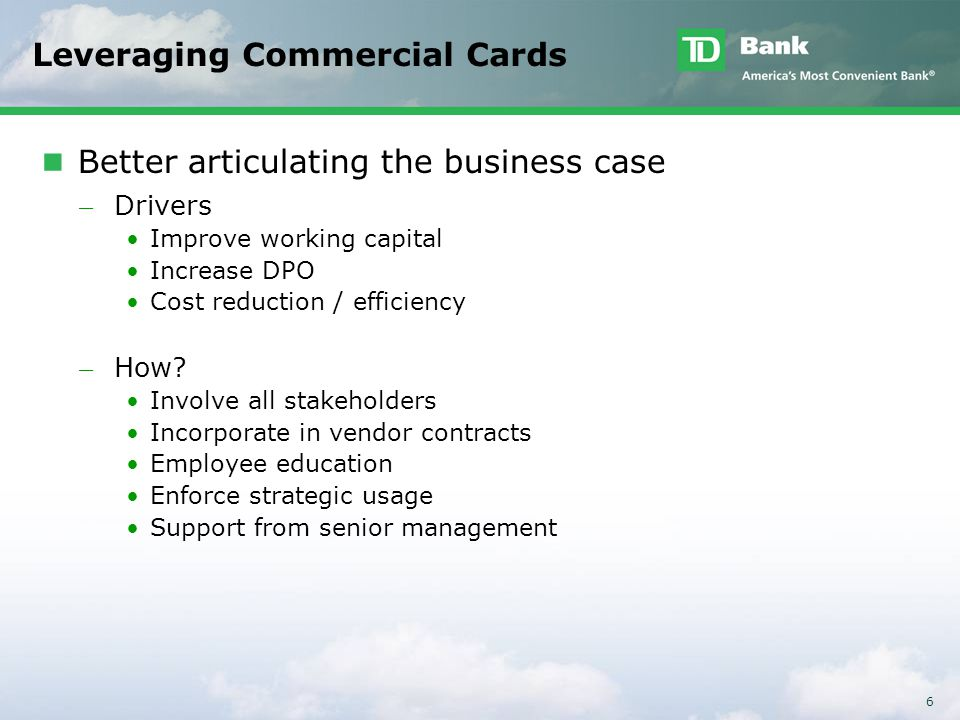 Leveraging Commercial Cards
