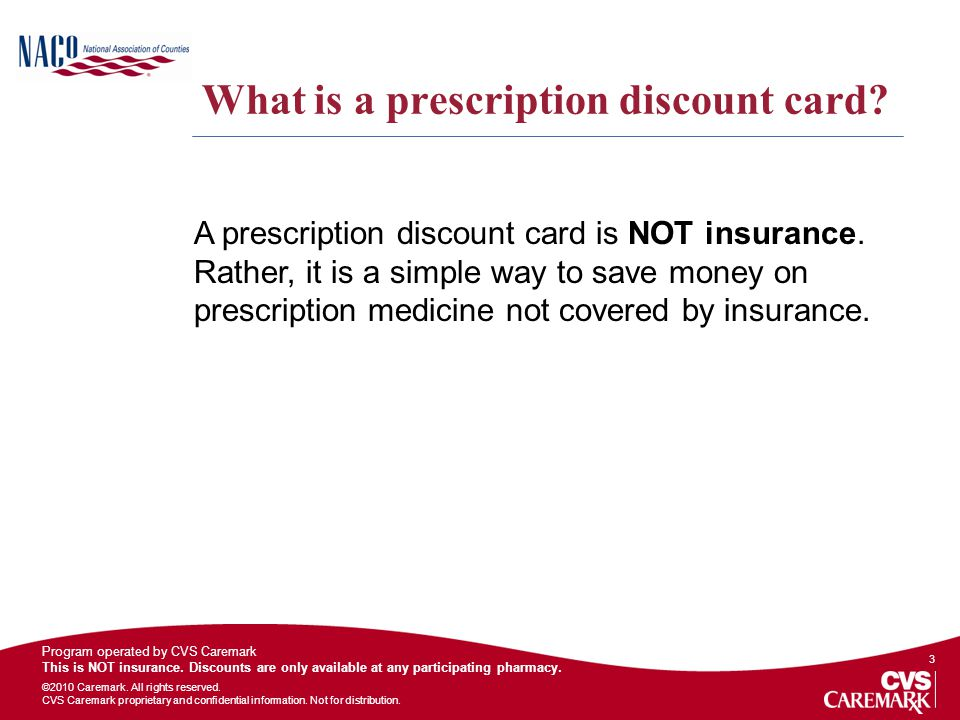 What is a prescription discount card