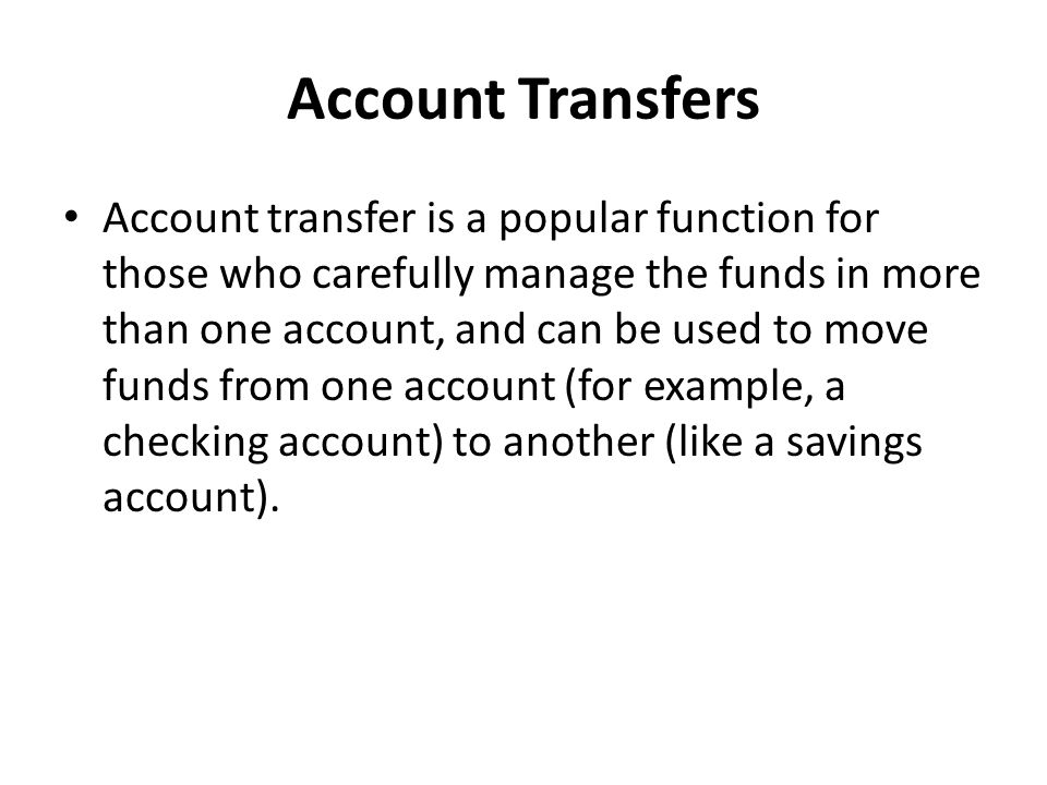 Account Transfers