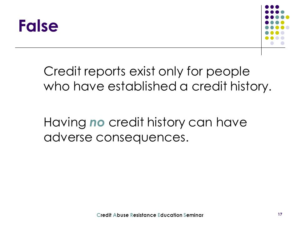 Credit Abuse Resistance Education Seminar