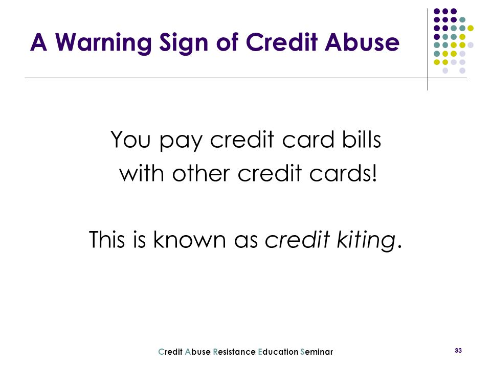 A Warning Sign of Credit Abuse
