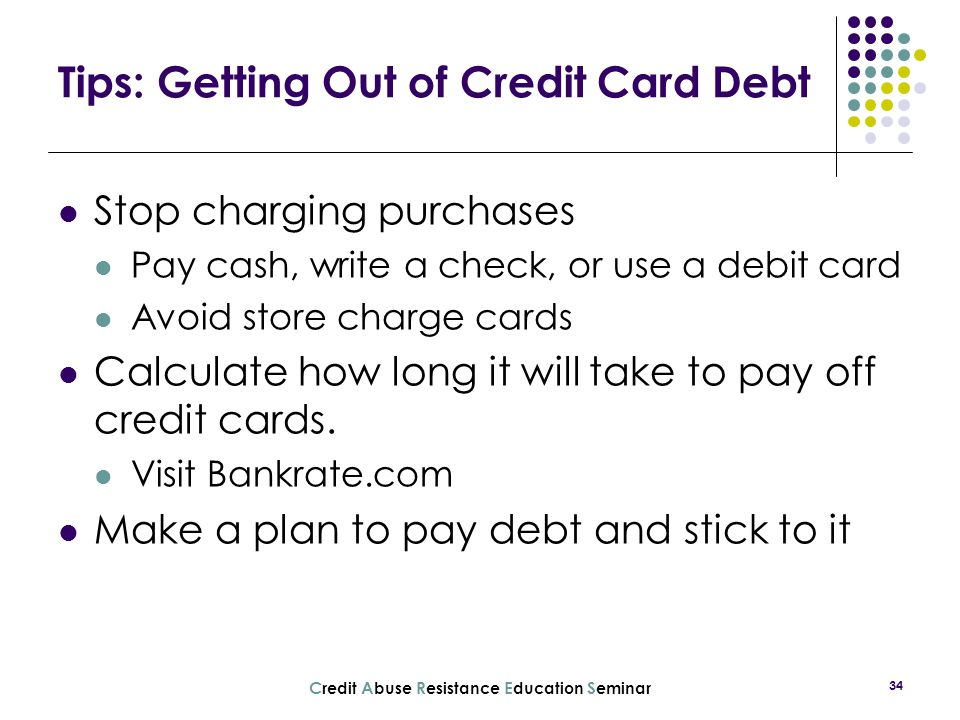 Tips: Getting Out of Credit Card Debt