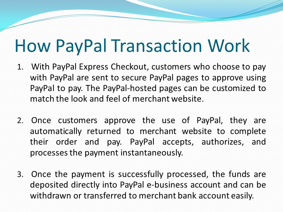 How PayPal Transaction Work