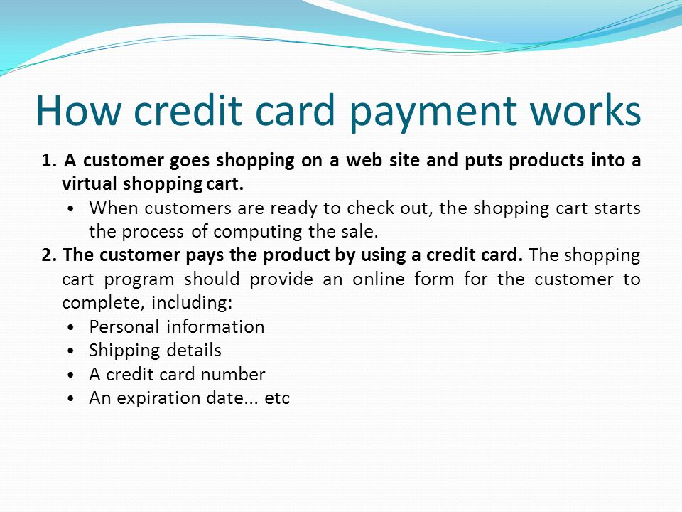 How credit card payment works