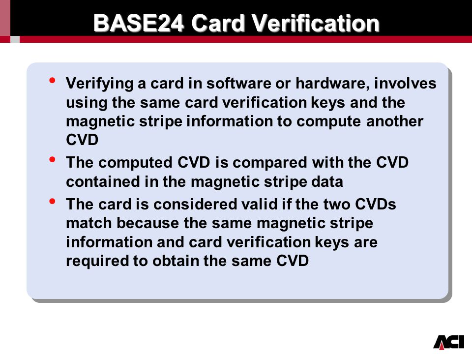 BASE24 Card Verification