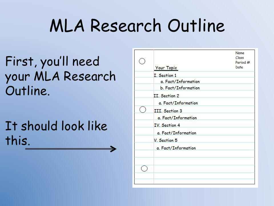 can you use i in mla research paper