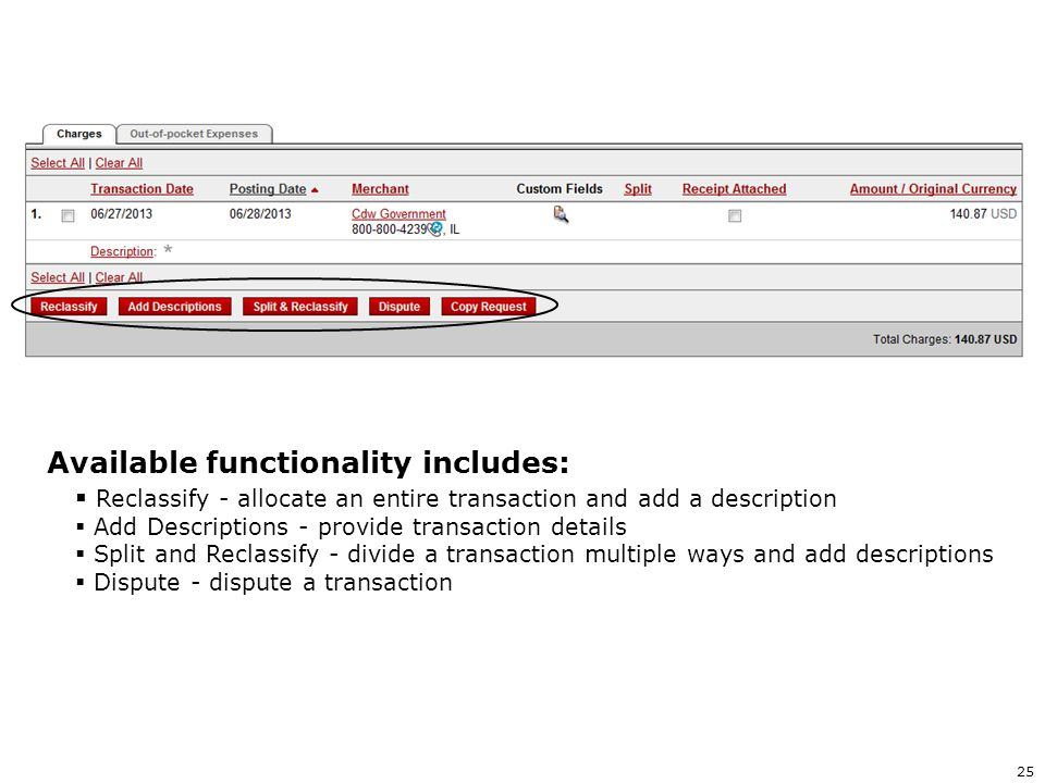 Available functionality includes: