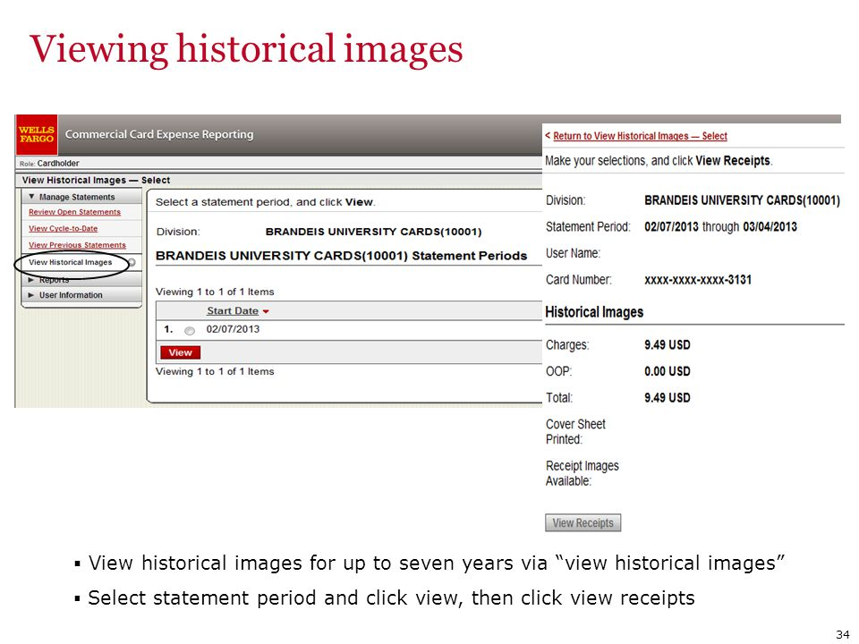 Viewing historical images