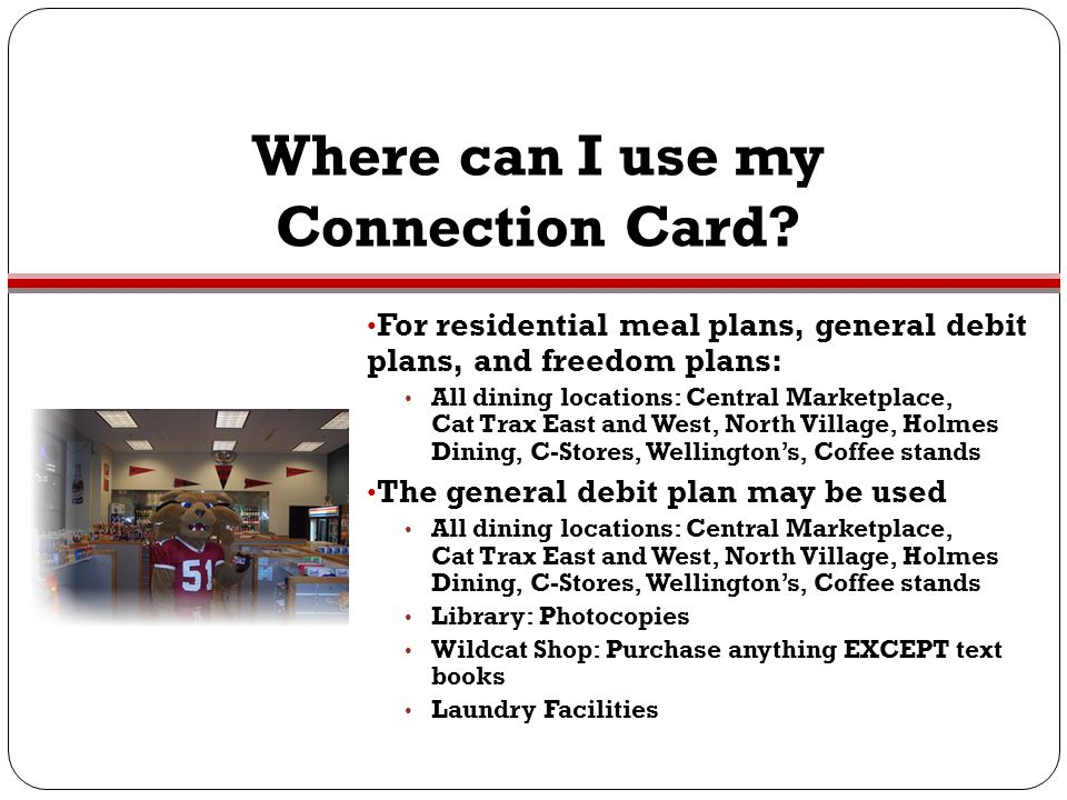 Where can I use my Connection Card