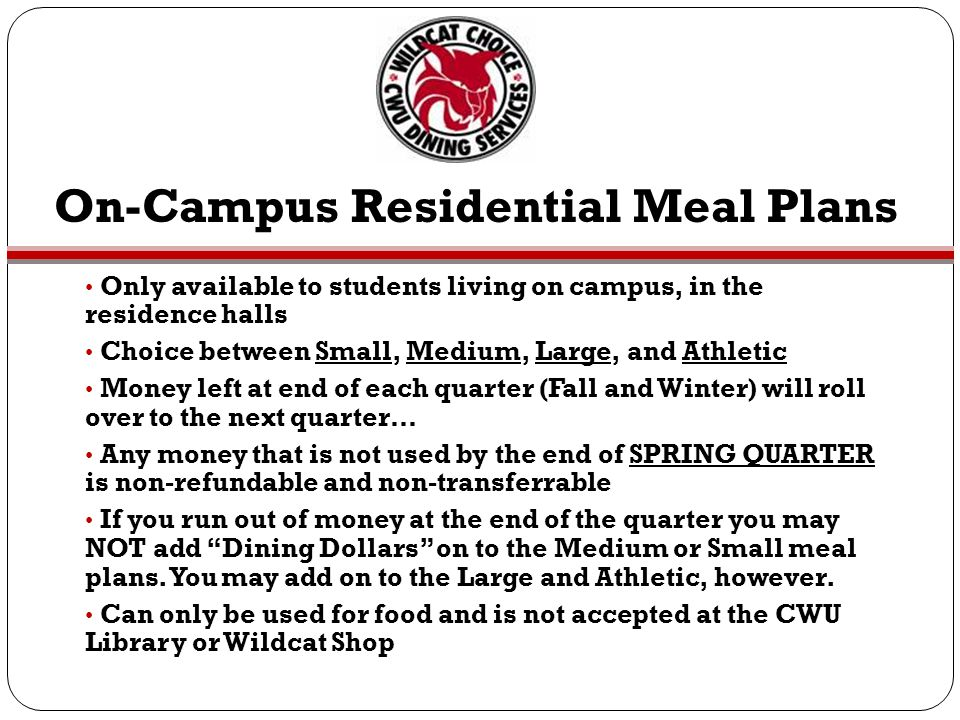 On-Campus Residential Meal Plans