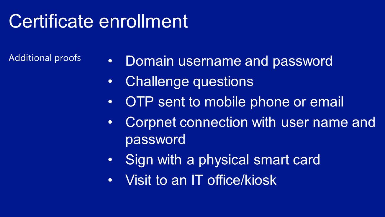 Certificate enrollment