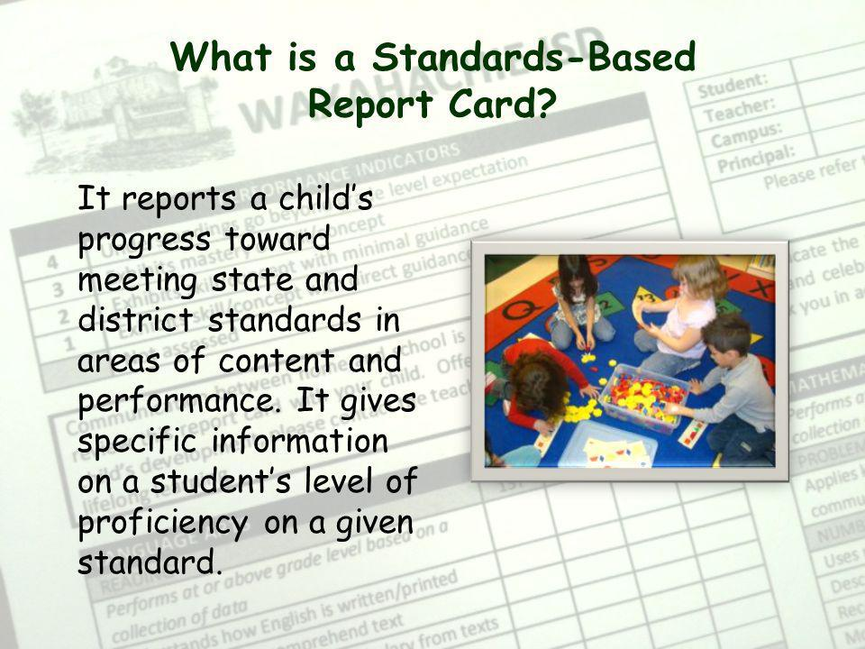 What is a Standards-Based Report Card