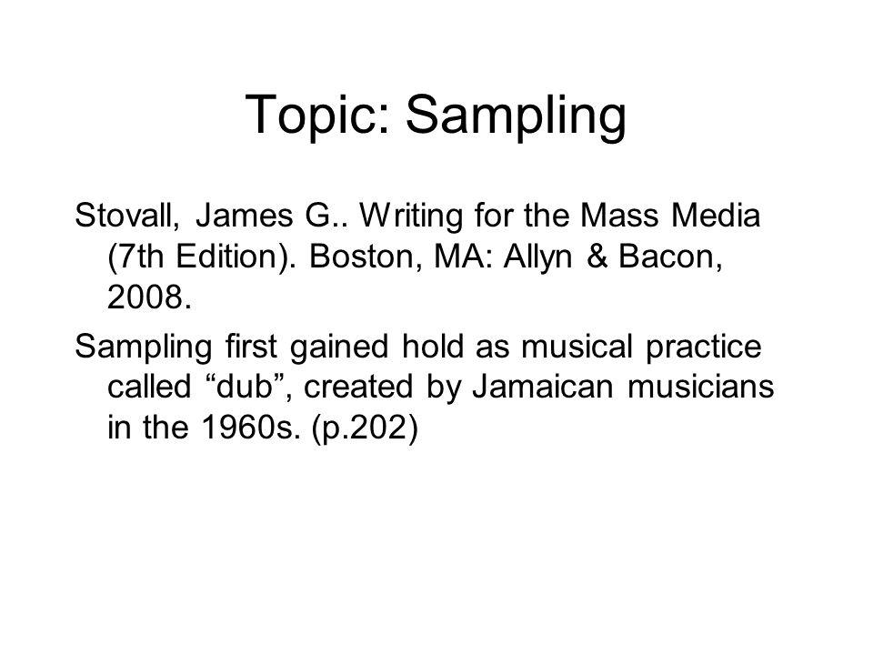 Topic: Sampling