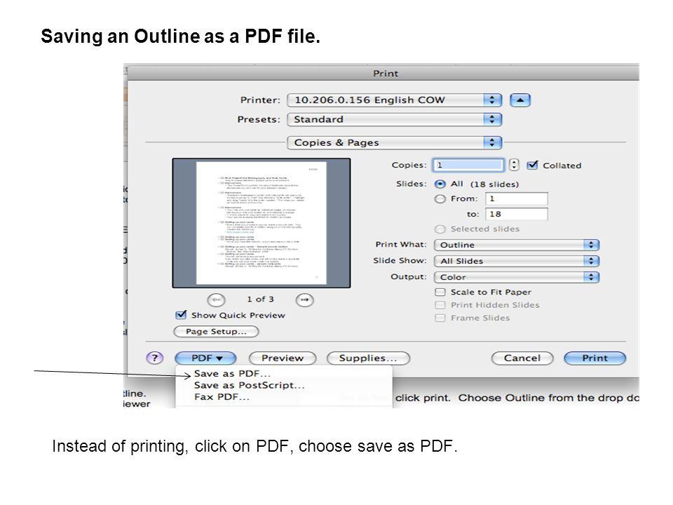 saving pptx as pdf file is huge
