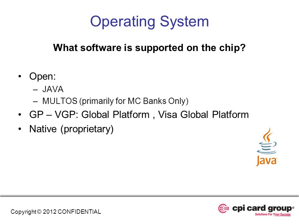 What software is supported on the chip
