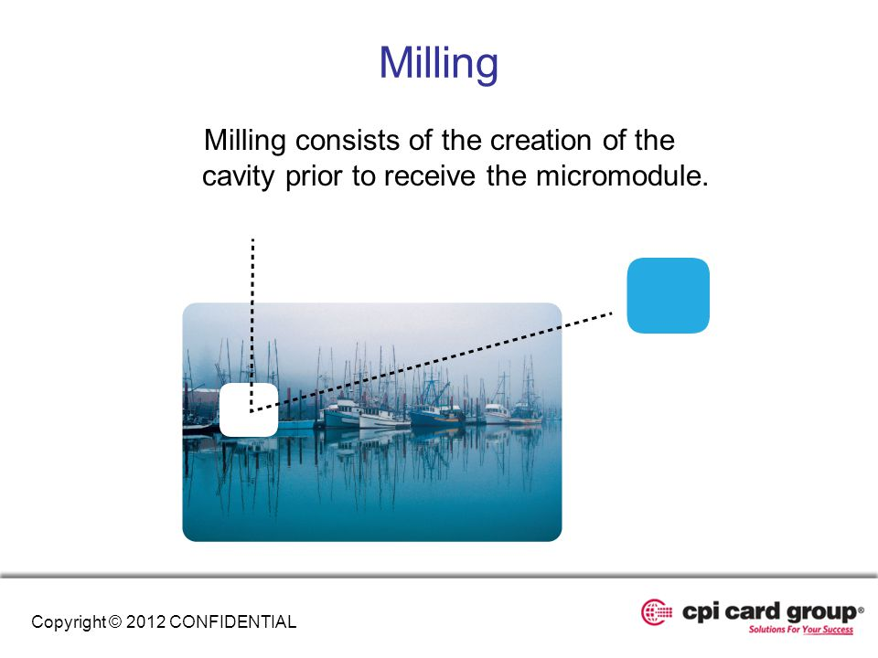 Milling Milling consists of the creation of the cavity prior to receive the micromodule.