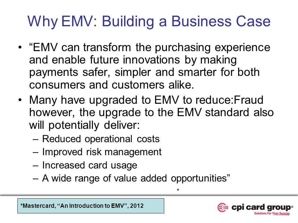 Why EMV: Building a Business Case