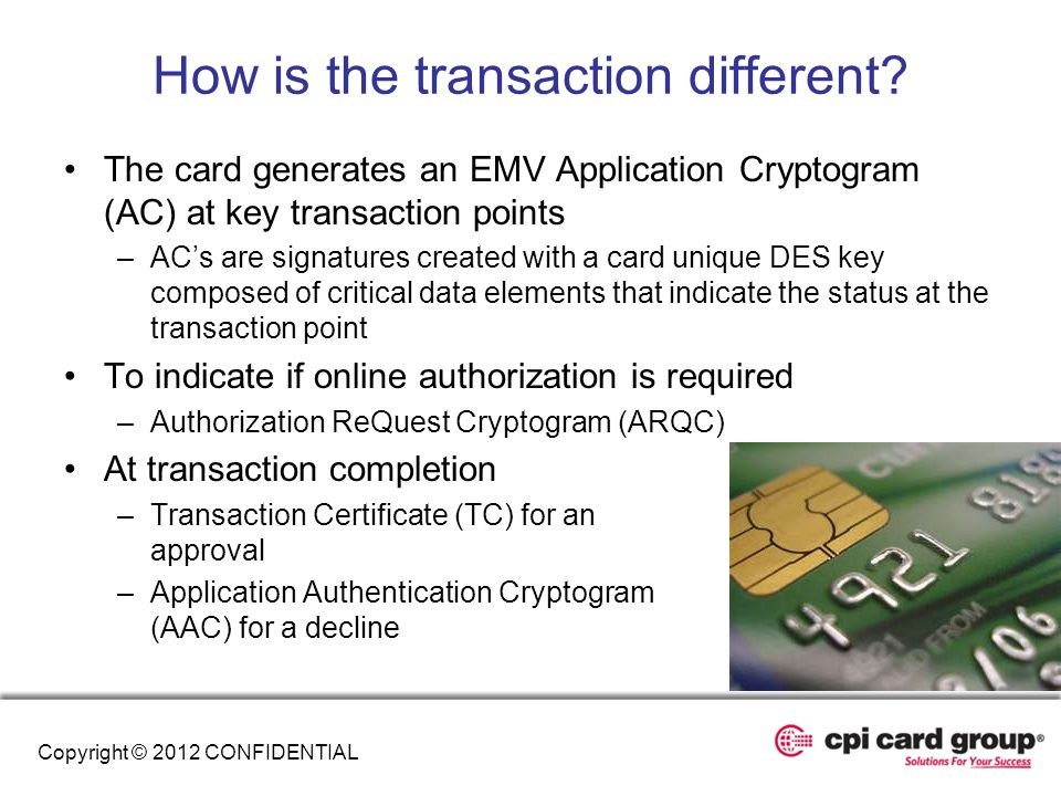 How is the transaction different