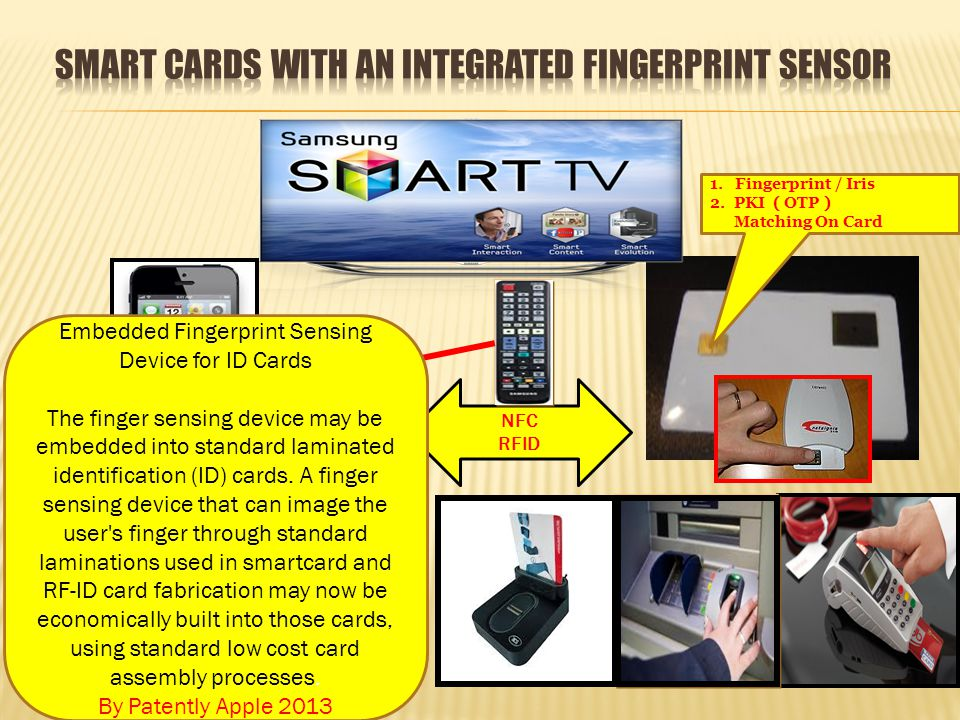 Smart cards with an integrated fingerprint sensor
