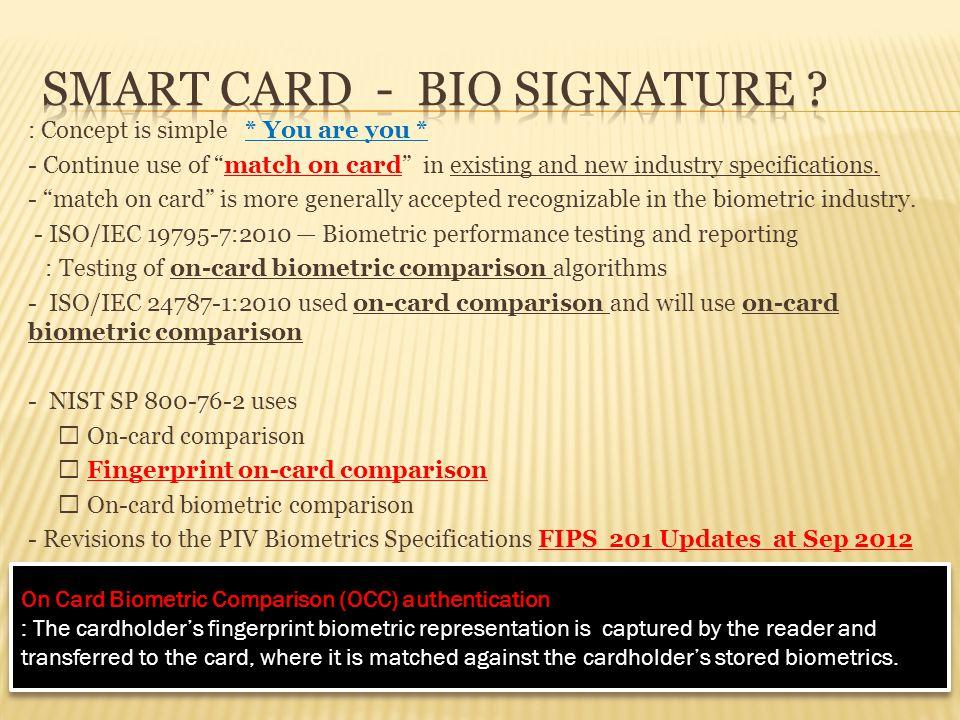 SMART card - BIO SIGNATURE