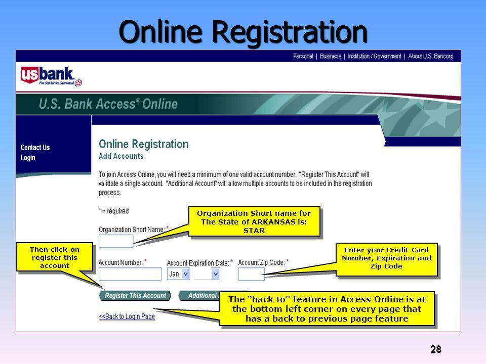 Online Registration Online Registration Instructions: