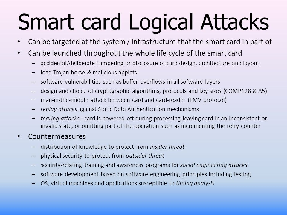 Smart card Logical Attacks