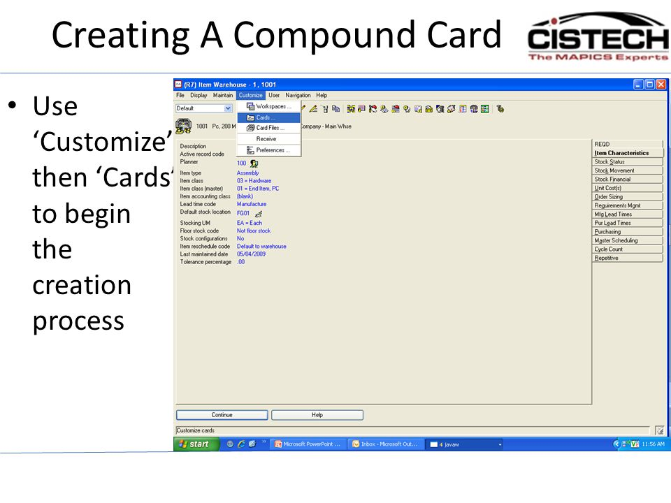 Creating A Compound Card