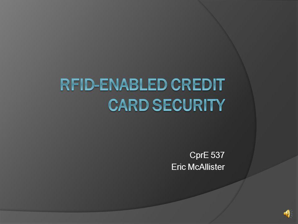 RFID-Enabled Credit Card Security