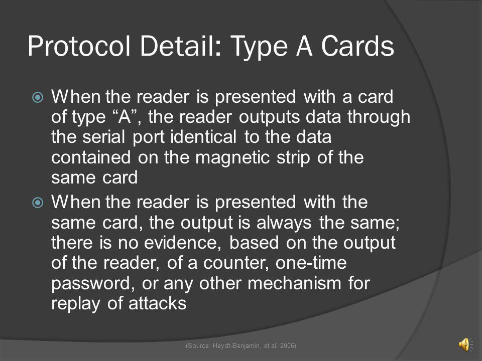 Protocol Detail: Type A Cards
