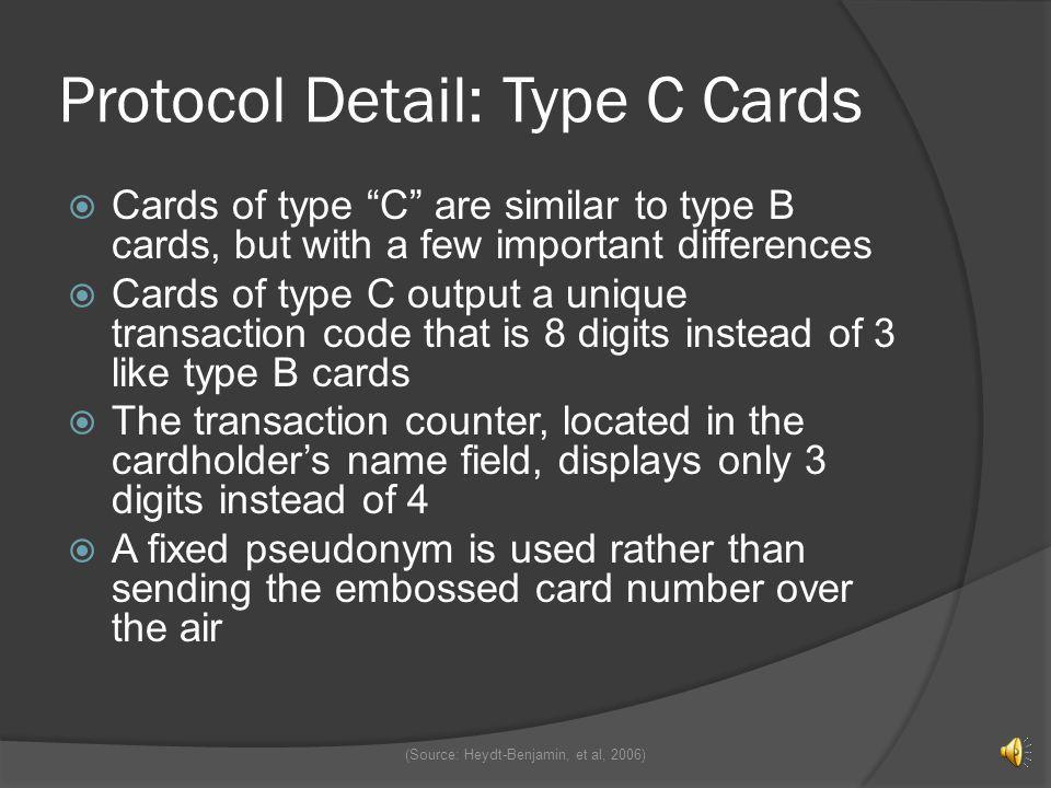 Protocol Detail: Type C Cards