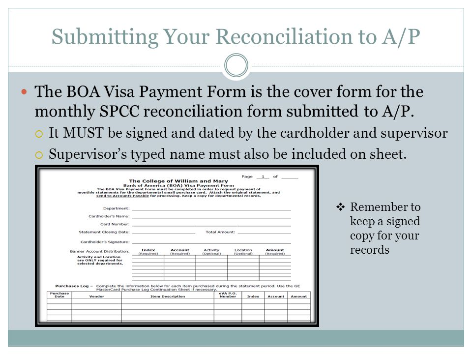 Submitting Your Reconciliation to A/P