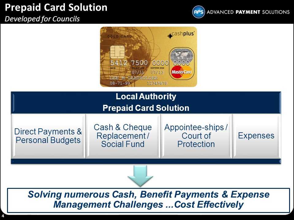 Prepaid Card Solution Developed for Councils